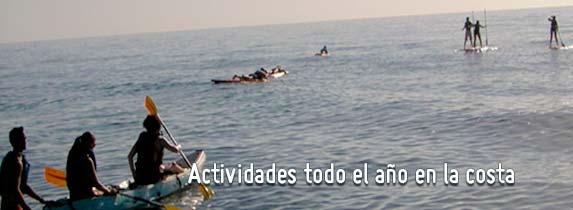 Actividades en la costa