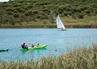 Actividades naúticas en lagunas de Ruidera
