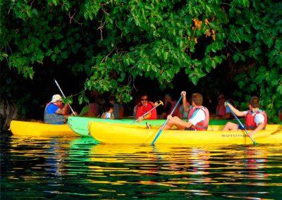 Travesía en kayak en lagunas de Ruidera